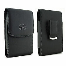 For ZTE Cell Phones Vertical Leather Belt Clip Case Pouch Cover Holster NEW!