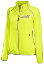 NEW Womens L NEW BALANCE Hi Viz Beacon Lightweight Reflective Running Jacket YEL