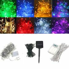 Electric/Solar/Battery 10-500LED String Fairy Light Lamp Christmas Wedding Party