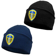 Leeds United AFC Official Football Gift Adults Knitted Bronx Beanie Hat