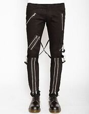 Tripp Nyc Classic Bondage Pants Mens Rock Goth Punk Skater Chains Skull Metal