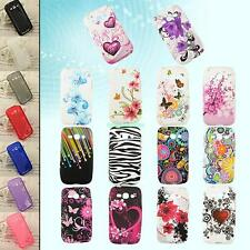 Rubber Gel Shell Skin TPU Cover Case For Samsung Galaxy Ace 3 III S7272 S7275