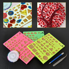 Paper Quilling Template Board Tweezer Slotted Papercraft Scrapbook Kit 8.2x5.9
