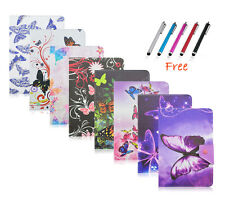 For 7~7.9inch MID Tablet PC Universal PU Leather Folio Flip Case Cover Butterfly