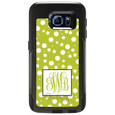 Monogram OtterBox Commuter for Galaxy S4 S5 S6 S7 Yellow White Dot Yellow
