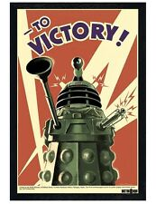 Doctor Who Black Wooden Framed To Victory! Dr Who Poster 61x91.5cm