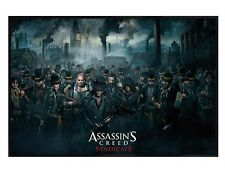 Assassins Creed Gloss Black Framed Syndicate Crowd Maxi Poster 61x91.5cm