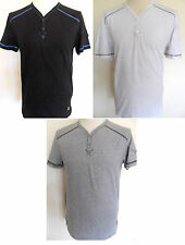 DUCK & COVER T-Shirt Men's Y/Neck T-Shirt Black,Grey,White Sizes: S,M,XL