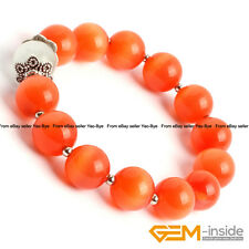 "12MM Round Cat Eye's Beads Handmade Stretchy Bracelet 7 1/2"" Christmas Gifts"