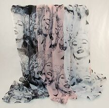New Marilyn Monroe 3 Colors To Pick From Classic Picture Large Print Scarf Shawl