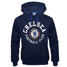 Chelsea FC Official Soccer Gift Mens Fleece Graphic Hoody Blue