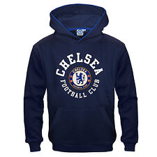 Chelsea FC Official Soccer Gift Boys Fleece Graphic Hoody Blue