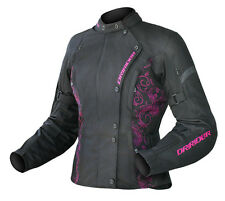 DRIRIDER LADIES VIVID JACKET BLACK/PINK CANDY