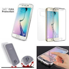 Dual Full Cover 360 Full Body Protection Clear Case Cover For iPhone Galaxy LG