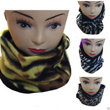 Unisex Adults Animal Zebra Tiger Leopard Printed Neck Warmer Winter Neckwarmers