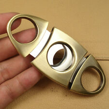 NEW Stainless Steel Double Blades Copper Cigar Cutter FX31