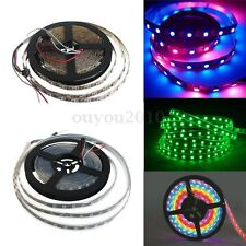 WS2812B 5050 SMD RGB 1/5M 60/144/150/300 LEDS Strip Light Individual Addressable