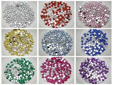 2000 Acrylic Faceted Round Flatbacks Rhinestone Gems 3mm 10ss Pick your Color