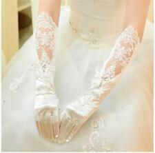 New Sexy White Ivory Lace Elbow Bridal Gloves Wedding Party Full Fingers Gloves
