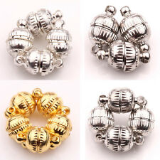 5/10 Sets White K/Silver/Gold Plated Floral Pattern Magnetic Clasps Findings DIY