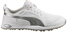 Puma Biofly Mesh Ladies Golf Shoes 188673-01 White/Puma Silver Womens New
