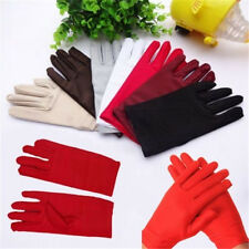 5 Colors Evening Party Wedding Formal Prom Stretch Satin Gloves for Women Gift