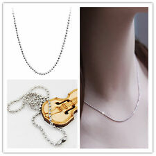 Wholesale lots 1/10pcs/100pcs Silver Plated Chain Necklace 23 inch Fashion new ~