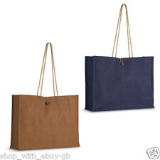 JUTE / HESSIAN Shopping Bag – ECO FRIENDLY Shopper REUSABLE Grocery Natural TOTE