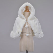Ivory Bridal Wedding Cape Cloak Shrug Bridesmaid Formal Party Bolero Stole Wrap