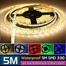 5M SMD 300LEDS 3528 5050 5630 7020 Non-Waterproof/Waterproof LED Strip 12V DC