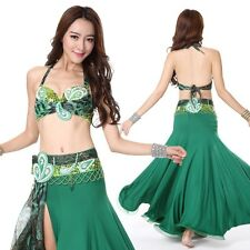 NEW STYLE! C803 Belly Dance Costume Outfit Set Bra Top Belt Carnival Indian 2PCS