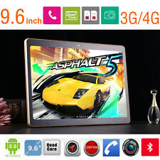 "9.6"" Quad Core Android 5.0 Bluetooth Dual CAMERA Dual Sim Tablet PC 16GB WiFi+4G"