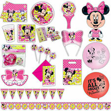 Disney Minnie Mouse Bow-Tique Toons Pink Party Plates Napkins Tableware Listing