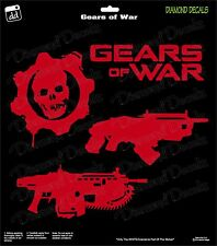 Gears of War Skull Weaponology (3-Pack) xBox One Gamer Decal Sticker Car Window
