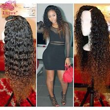 T1B/30 Ombre Lace Front Human Hair Wigs Brazilian Kinky Curly Full Lace Wigs