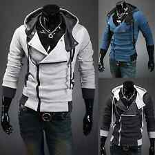 Mens Fashion Slim Hooded Jacket Casual Hoodies Cardigan Coats Jumper Top Outwear