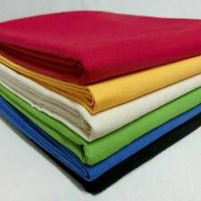 Solid Color Cotton Canvas Fabric Material Choices #B+Free Buy Cheap