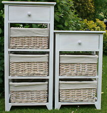 LULWORTH RANGE 3 & 4 DRAWER WOOD & WICKER STORAGE UNITS