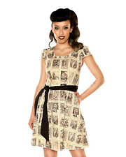 Deadly Games Dress - cute retro punk rock emo vintage stamps pattern *FOLTER*
