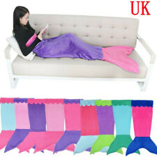Girls Mermaid Tail Fleece Blanket Sleeping Bag Princess Costume Set Photo Prop