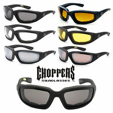 Authentic Choppers Sunglasses Padded Wind Resistant Motorcycle Biker Glasses