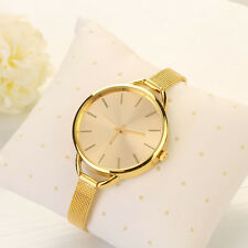 Women Dress Watach Mesh Stainless Steel Analog Quartz Watch Bracelet Wristwatch
