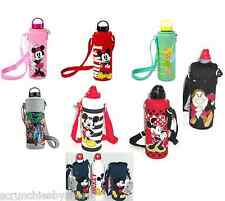 Disney Store Aluminum Water Bottle Cover Minnie Mickey Tinker Grumpy Marvel New
