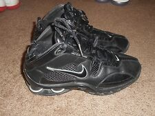 Nike SHOX Flight Systems 309182-001 Black Leather Mens Size 8 Basketball Shoes