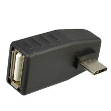 NEW Right Left Angled 90 Degree USB 2.0 A Female to Micro Mini 5pin Male Adapter