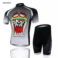 New Mens Cute Style Cycling Jersey Padded Shorts Bicycle Wear Outdoor Bike Sets
