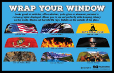 Custom Rear Window Graphic Decal-Tint Print Sticker Truck SUV Car Perforated