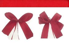 Red single face satin ribbon plain bowed or personalized you choose