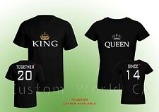 Together Since Shirts - King And Queen Couple T-shirt Love Put the Dates Custom