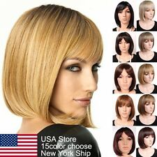 Charming BOB Full Wig Women Lady Short Straight Hair Wigs Real Thick Synthetic S